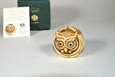 New ListingHarmony Kingdom Mostel Owl Roly Poly Figurine Box Adam Binder Horned Owl Tjrpow
