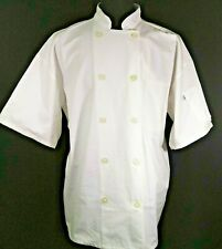 Uncommon Threads Chef Jacket Xl Coat White Double Breasted Button Ss Unisex New