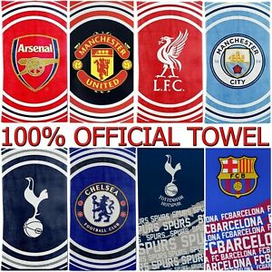 100% OFFICIAL FOOTBALL CLUB TEAM IMPACT FC TOWELS BEACH BATH GYM SWIM LICENSED