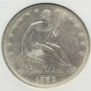 1859-O Seated Liberty Half 50c SS Republic NGC