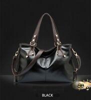 Women Large Leather Handbag Portable Tote Bag Ladies Shoulder Messenger Bag