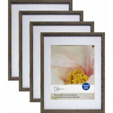"""""""Mainstays Linear 11"""""""" x 14"""""""" Matted to 8"""""""" x 10"""""""" Rustic Frame, Set of 4"""""""