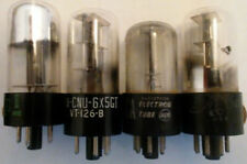 6X5GT vacuum tube RCA Sylvania CBS National-Union etc.