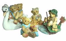 Lot of 4 Cherished Teddies Collection Figurines 1998 Christmas, Birthday Nice!