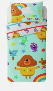 Childrens New Hey Duggee Reversible Bedding Girls Warm Soft Bedding Cover Set