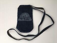 Vintage Denim Tote Bag Skunk Train Railroad Pouch Purse California USA Machinist