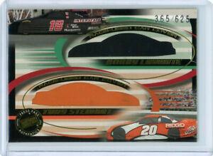 TONY STEWART / BOBBY LABONTE 2002 PRESS PASS RACE USED DUAL CAR COVER #D 365/625