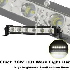 "6"" 18W LED Light Bar Fog Lamp Off-Road for Jeep Ford Chevrolet GMC Dodge Truck"