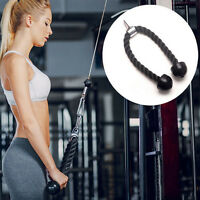 Tricep Rope Push Pull Down Press Multi Gym Bodybuilding Cable Attachment JFc