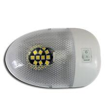 RV LED 12v Fixture Ceiling Camper Trailer Marine Euro style Single Dome Light