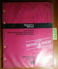 John Deere Electronic Scale Attachment for Grinder-Mixer Owner Operator Manual