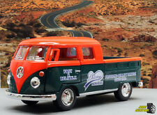 1:34 KINSMART 1963 VOLKSWAGEN BUS DOUBLE CAB - Orange Perfect for Diorama use
