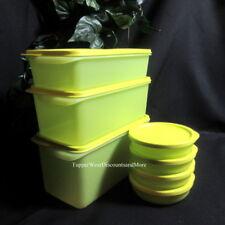 Tupperware New Rectangular & Round Basic Pak N Stor Snack Containers 7-pc Set