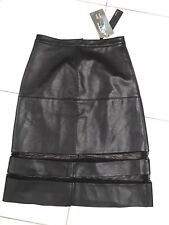 Staple The Label PU Faux Leather Skirt With Netting Size 10 BNWT RRP $100
