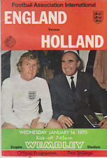 Programme / Programma England v Holland 14-01-1970 friendly