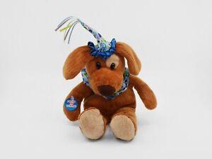 "ANIMAL ALLEY Musical Birthday Dog 9"" Plush - Tested - STILL PLAYS!"