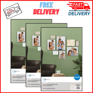"""(Set of 3) 11 x 17"""" Format Picture Frame Wall Black Poster Vertical Horizontal"""
