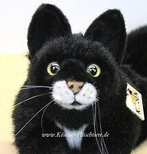 """Kösener Katze """"Mohrle"""", liegend - #4391 - Plüschtier zum Kuscheln - wunderschön"""