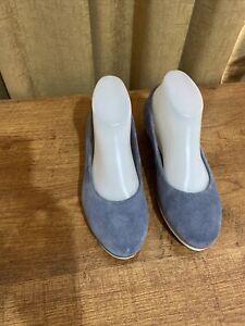 Women's Soft Suede Shoes By Clarks, Size UK 4.5, AU 6.5, EC, Inner Sole 24.5 cm