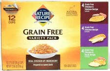 Nature's Recipe 2.06 Lb Grain Free Real Chicken Venison Duck 12 Ct Variety Pack