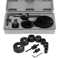 11pcs Hole Saw Kit Wood Metal Alloy Hole Saw Cutter Box Set Cutting Drill K4G2