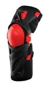 Thor Force XP Motocross MX Off Road Adult Knee Guards Black Red