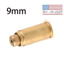 US Boresight CAL 9mm Red laser Bore Sight CalibratorCartridge Boresighter&battey