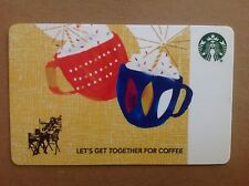 """Starbucks Gift Card Co-Branded """"CELEBRATION-MUGS"""" COLLECTABLE & No Cash Value"""