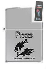Zippo 9284 horoscope pisces Lighter + FLINT PACK
