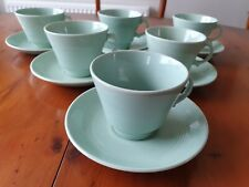 3  VINTAGE WOODS WARE BERYL TEA CUP AND MATCHING SAUCER