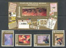 PHILIPPINES 1997, ABSTRACT ART, Scott 2490-2494. 4 STAMPS & SOUVENIR SHEET, MNH