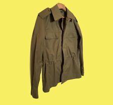 Bespoke Chore Army M65 Military Utility Field Jacket Over Shirt Khaki M 38 40