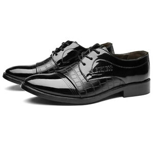 Men Oxfords Lace Up Shoes Casual Pointed Toe Business Formal Work Fashion Shoes