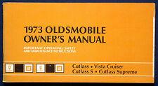 Owner's Manual Betriebsanleitung 1973 Oldsmobile Cutlass   Vista Cruiser   (USA)