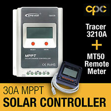 EPever 3210A Tracer 30A MPPT Solar Charge Controller Regulator MT50 Meter 12v 24