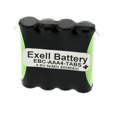 Exell 4.8V 800mAh NiMH Battery Pack w/Tabs for RC Two-Way Radio Cordless Phone