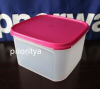 Tupperware Modular Mates Square Container #2 with Flat Seal in Pink New