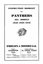 (0884) 1938-1946 Panther all models instruction book