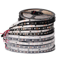 WS2811 5050 RGB LED Strip 1m/5M 150 300Leds Individual Addressable DC12V White/B