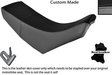 BLACK & GREY CUSTOM FITS YAMAHA TTR 250 LEATHER DUAL SEAT COVER ONLY