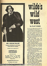 Oscar Wilde And His Gay Wild West + Genealogy
