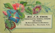 Mrs. J.E Greene Dress-Plating Fire Alarm Locations Manchester N.H. P49