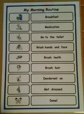 My Morning Routine Checklist Support/Aid for Autism/ADHD//Visual Learners/SEN