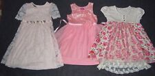 3 LOVELY DRESSY PARTY DRESSES: ~BONNIE JEAN ~PINKY ~FREE PLANET Girl 6 6X