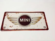 MINI COOPER CAR LICENSE PLATE  U K*Metal Poster GARAGE PICTURE Sign Tin Plaque