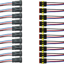 10 x 3-Polig Kabel Set KFZ Steckverbinder Stecker Wasserdicht Steckverbindung JQ