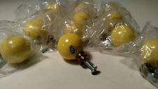 12x NOS Vintage Art Deco 1950's Yellow Drawer Cabinet Pull Knobs *Made In Japan*