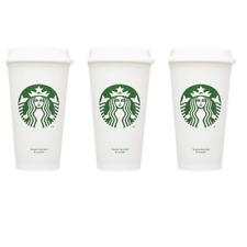 STARBUCKS Reusable Cups Recyclable Grande 16 oz Plastic Travel To Go Coffee 3pcs