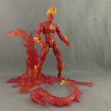 "Marvel Legends Human Torch Fantastic Four Action Figure 6"" Toy Biz loose"