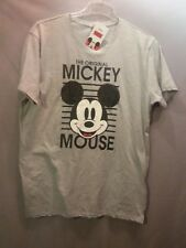 DISNEY Mickey Mouse Herren Kurzarm-Shirt in grau, Größe L